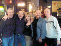 Some of the old band members still get together from time to time. This shot was taken at a reunion around 2007, at The Gun Tavern in Croydon, where the band played several gigs in the 1970s. From left: Dave Bell, Mick Sluman, Jill Saward, Colin Dawson and Stan Land.
